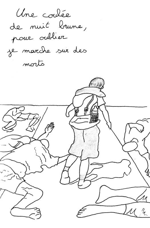 """Poème """"Je marche"""" de Kenny Ozier Lafontaine. Page n° 1"""